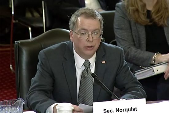 Norquist Testifies on Nov. 20