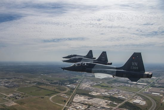 T-38C Talon's fly soar through the sky