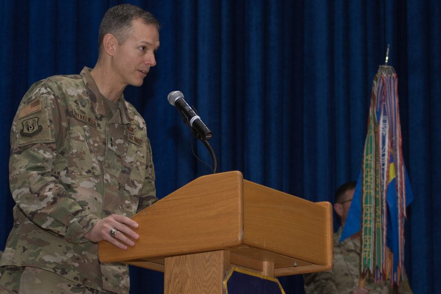 The 386th welcomes new commander