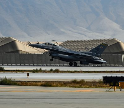 F-16 Arrives at Bagram Airfield, Afghanistan
