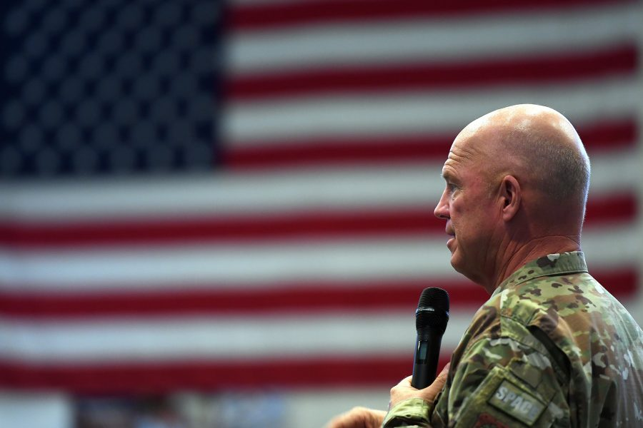 Gen. Jay Raymond Speaks at Schriever AFB All-Call