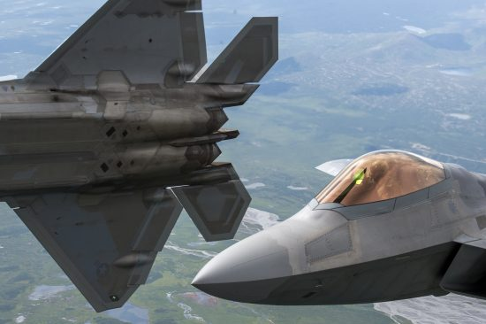 F-22 and F-16 Joint Pacific Alaska Range Complex Flight