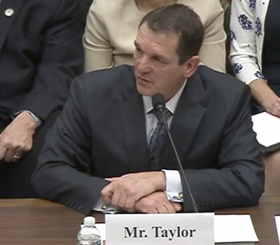 Rick Taylor, president of facility operations, renovations, and construction at Balfour Beatty Communities, testifies at a House Armed Services readiness subcommittee hearing Dec. 5, 2019. YouTube screenshot.
