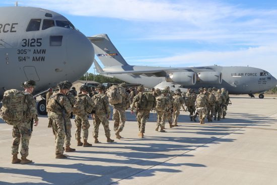 Immediate Response Force Paratroopers Deploy