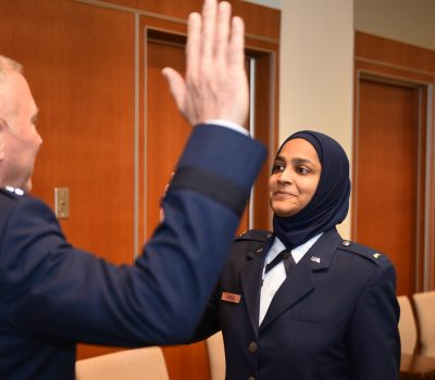 Air Force commissions first female Muslim chaplain