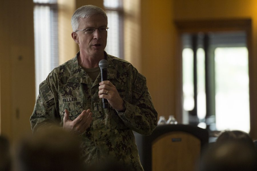 USSOUTHCOM Commander Admiral Faller visits 12th Air Force (Air Forces Southern)
