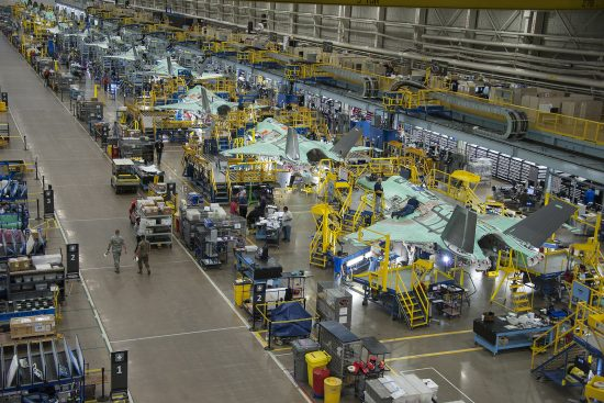 Lockheed Martin F-35 production line