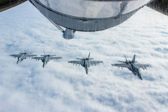 F18s Flying Over Pacific