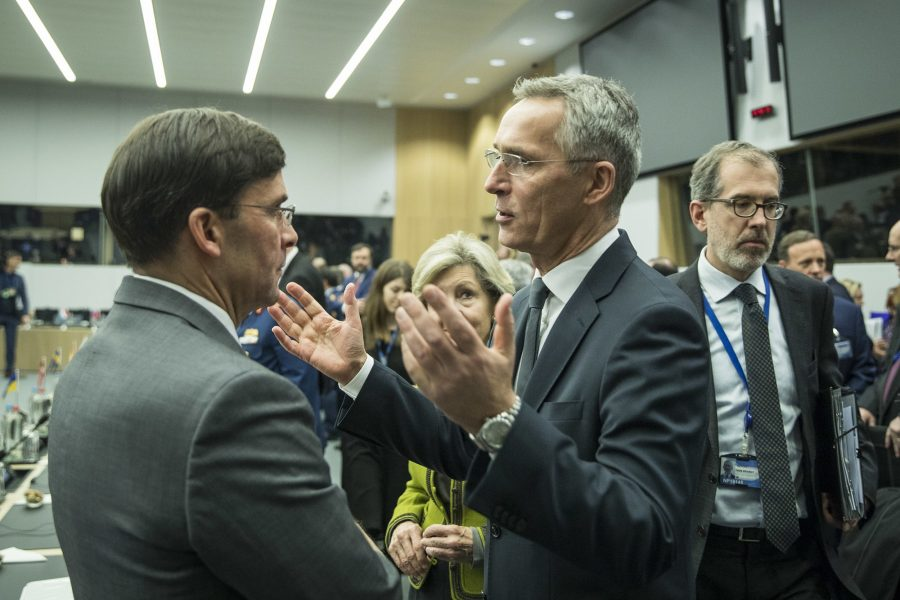 Defense Secretary Mark Esper and NATO Secretary General Jens Stoltenberg