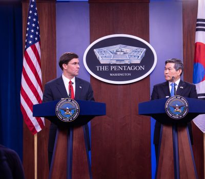 SecDef Esper and ROK Defense Minister Kyeong-doo Host Joint Press Conference
