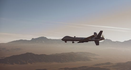 MQ-9 Reaper in flight over the NTTR