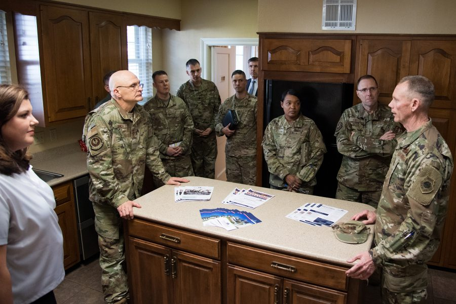 Air Force leadership conducts privatized housing tour at Barksdale