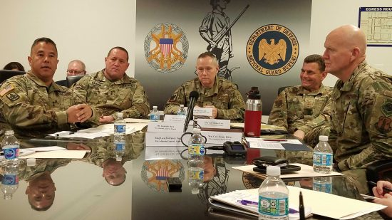 National Guard space briefing