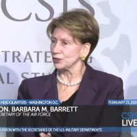 SECAF Barbara Barrett at CSIS