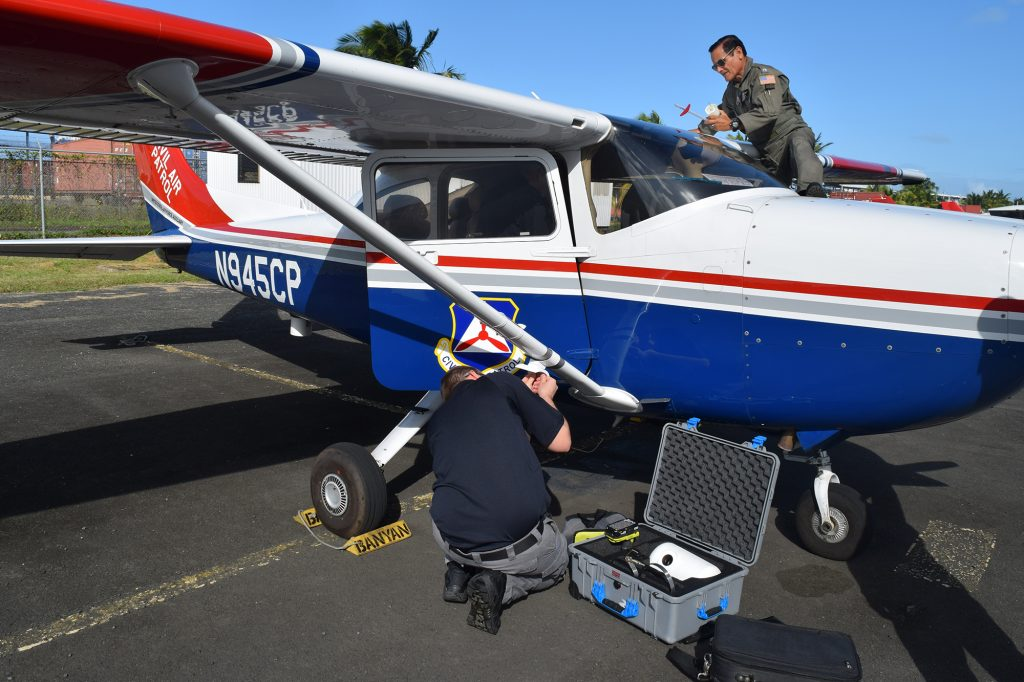 Prepping the plane