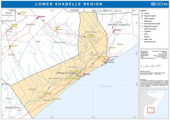 Lower Shabelle Region of Somalia