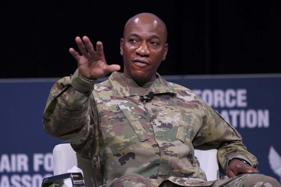 CMSAF Kaleth Wright at AWS 2020