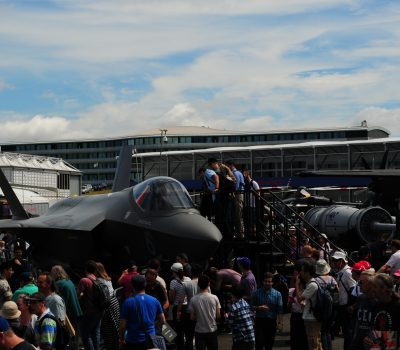 U.S. forces demonstrate airpower at Farnborough International Air Show