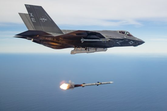 F-35C Conducts 1st Operational Test of Live-fire AIM-120 Missile
