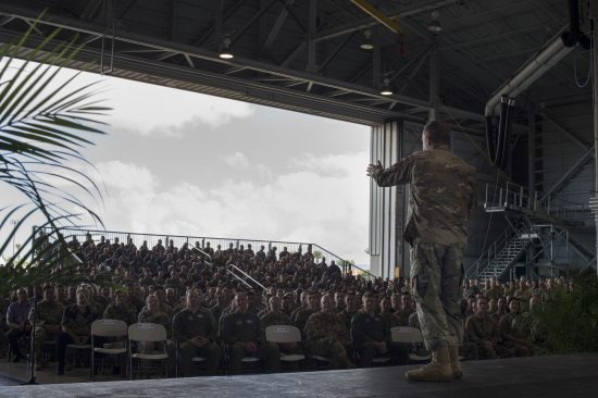 Sky Warriors host CSAF at Hickam Airfield