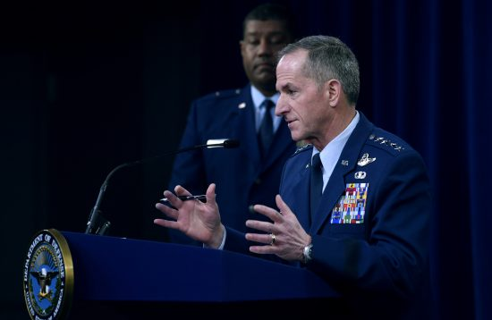 Air Force Chief of Staff Gen. David L. Goldfein conducts COVID-19 press briefing