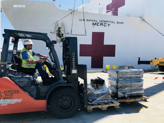 USNS Mercy (T-AH 19) Prepares to Deploy