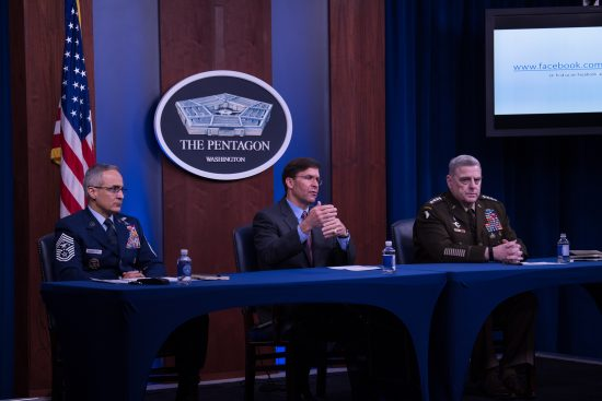 SECDEF, CJCS, and SEAC Host COVID-19 Town Hall