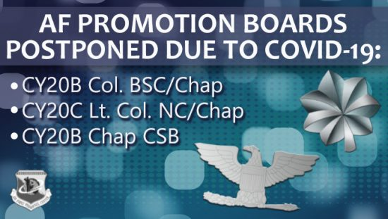 Promotion Boards Postponed