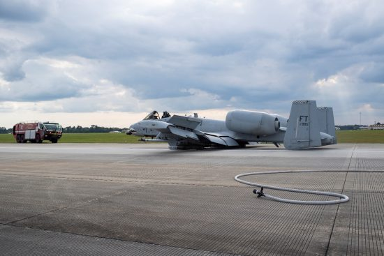 A-10 emergency landing Moody