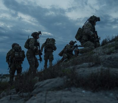 Special Tactics Airmen conduct operability training with Weapons School