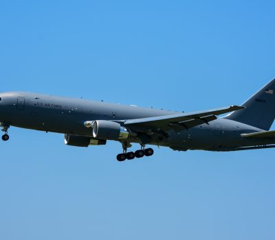 KC-46 Pegasus #7 Lands at McConnell AFB