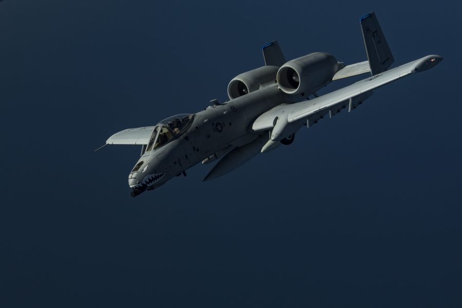Deployed KC-10 refuels A-10s