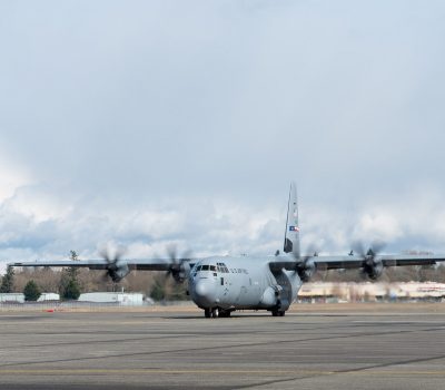 627 Hospital Center arrives at McChord Field