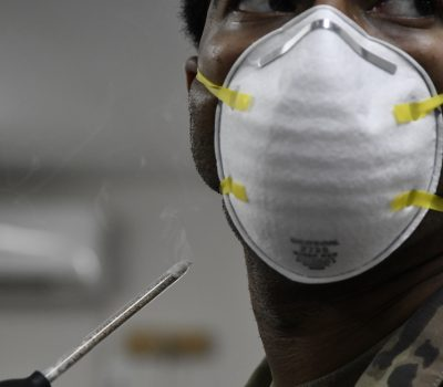 Deployed Airmen equipped and test personal N95 mask
