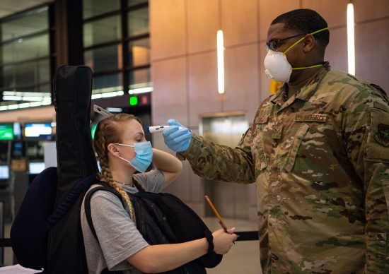 62nd APS Airmen conduct new COVID-19 screening at SeaTac