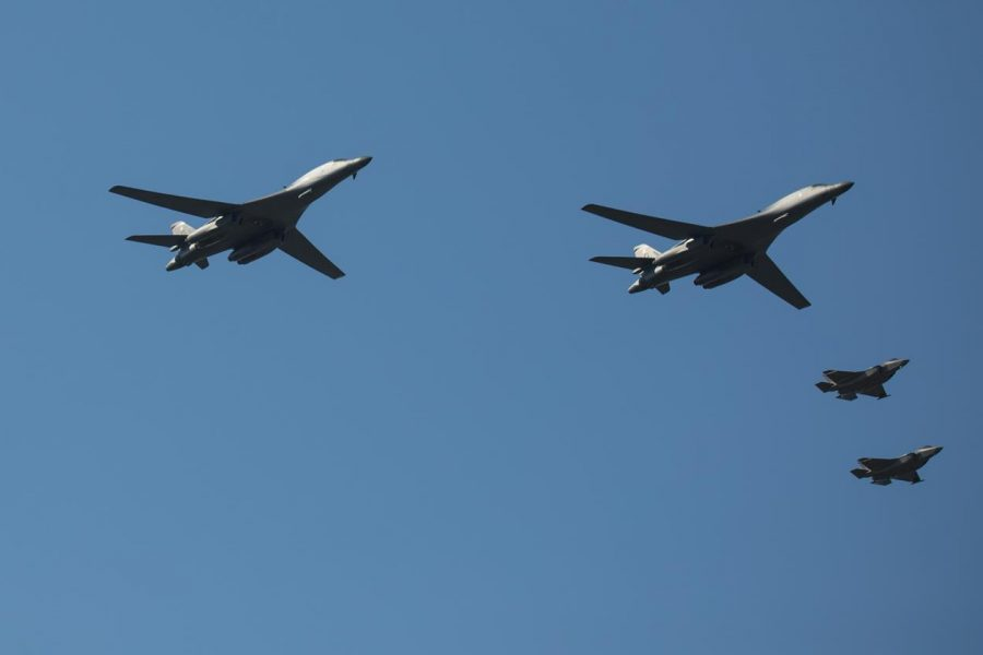 B-1s integrate with Norwegian F-35s