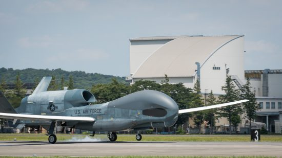 RQ-4 Global Hawk arrives at Yokota Air Base