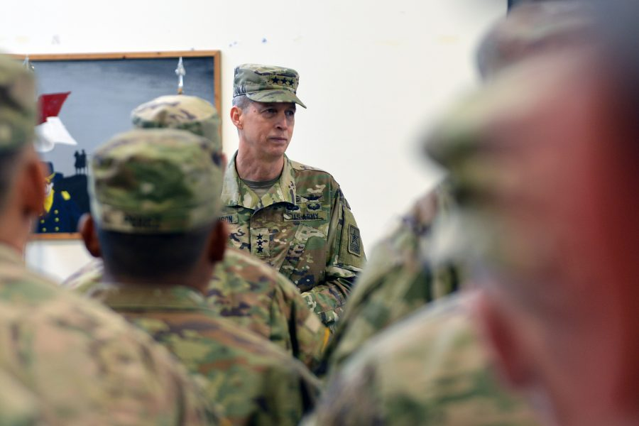 Army National Guard Director Re-enlists Oregon Soldiers