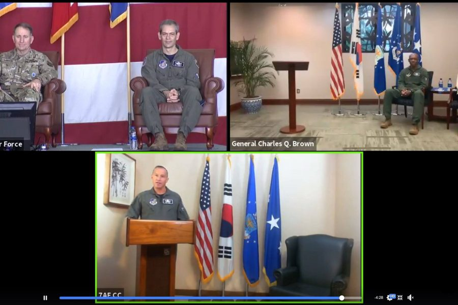 Seventh Air Force hosts first virtual change of command