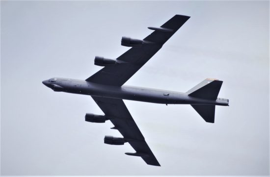 B-52 trains with Danish Navy
