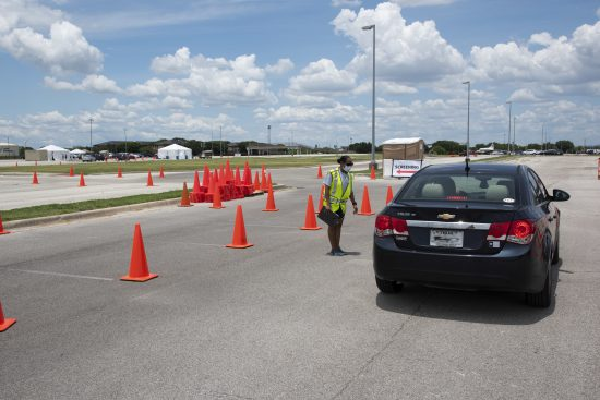 Lackland AFB COVID-19 drive through screening