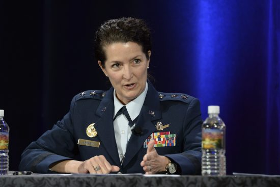 Maj. Gen. Nina Armagno at Space Symposium