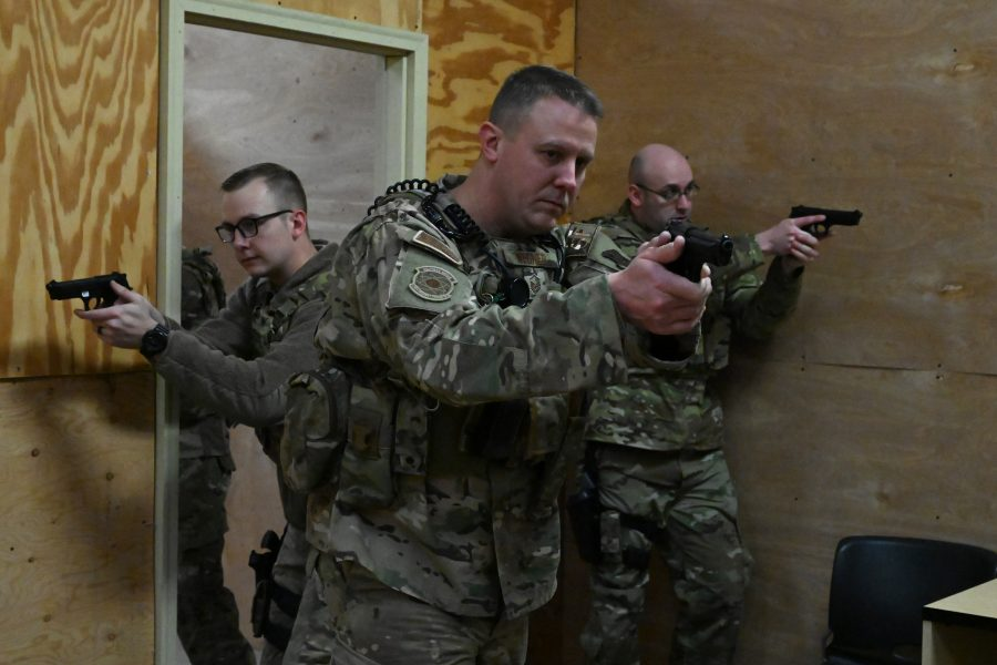 219th Security Forces Squadron conducts training
