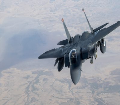 Strike Eagles get refueled over Iraq