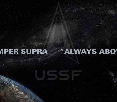 Space Force logo and motto