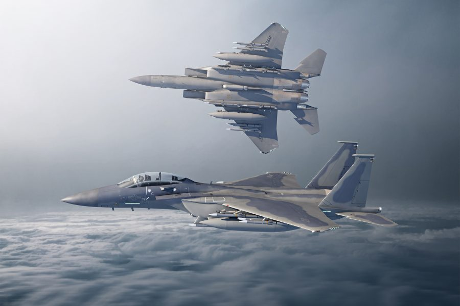 F-15EX Two Ship hard bank