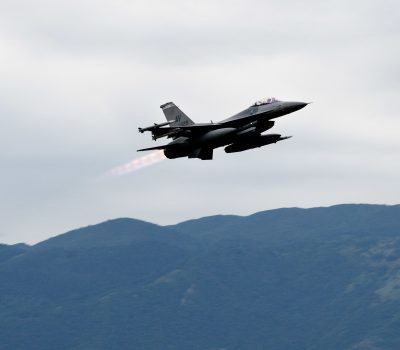510th FS F-16s takeoff for Black Sea Ops