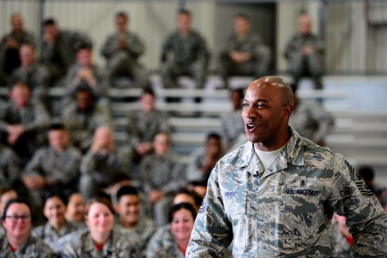 CMSAF Wright visits Whiteman AFB