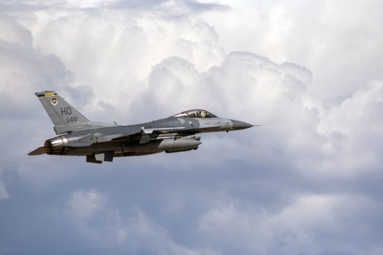 F-16 train over Holloman