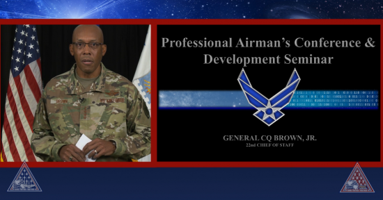 CSAF Gen. Brown at AFSA